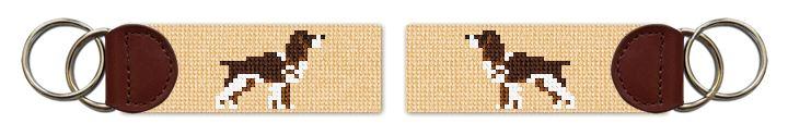 Springer Spaniel Needlepoint Key Fob