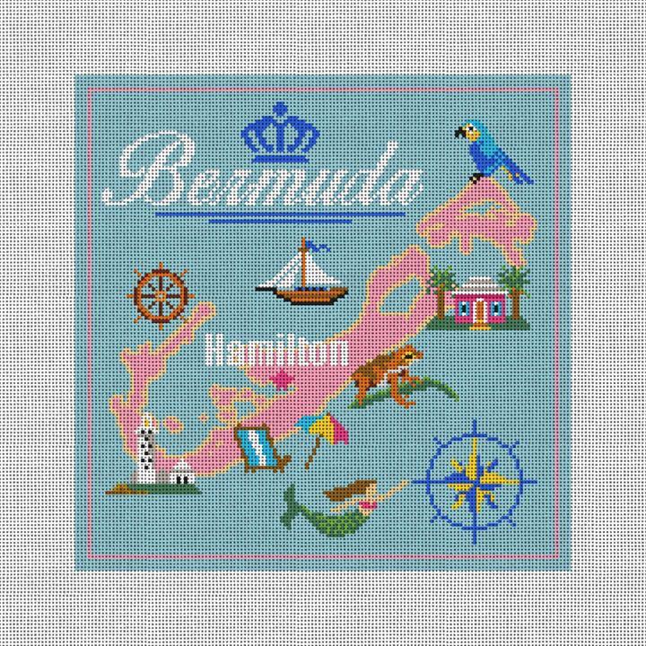 Sunny Bermuda Needlepoint Pillow Kit