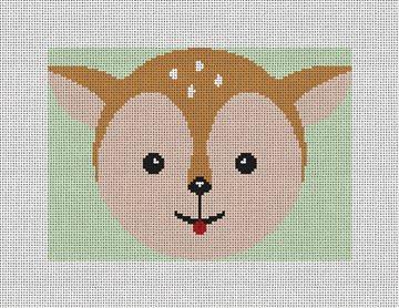 Sweet Deer Needlepoint Ornament Kit