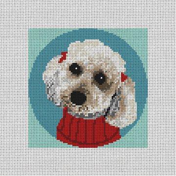 Sweet Poodle Needlepoint Ornament Kit