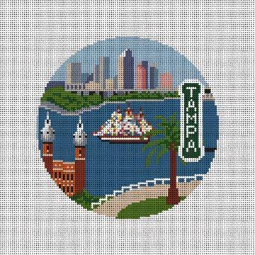 Tampa Bay Needlepoint Ornament Kit