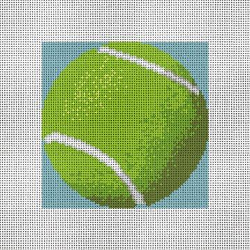 Tennis Ball Needlepoint Ornament Canvas