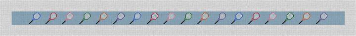 Tennis Rackets Needlepoint Belt Canvas