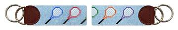 Tennis Rackets Needlepoint Key Fob