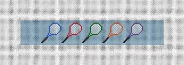 Tennis Rackets Needlepoint Key Fob Kit