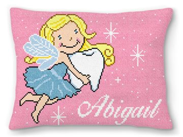 Tooth Fairy Princess Needlepoint Pillow