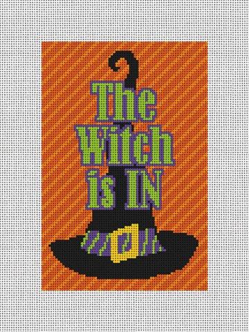 Witches Hat Halloween Needlepoint Door Hanger Kit