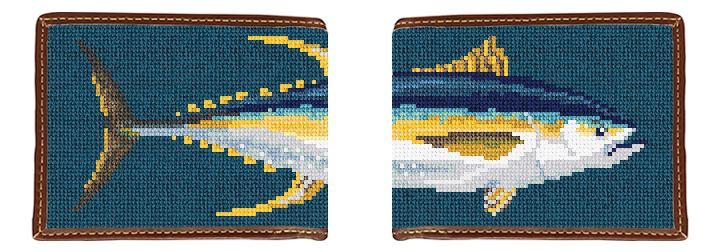 Yellowfin Tuna Needlepoint Wallet