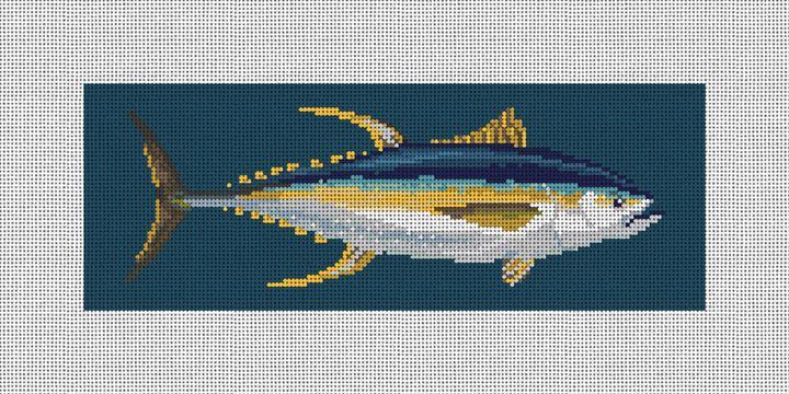 Yellowfin Tuna Needlepoint Wallet Kit